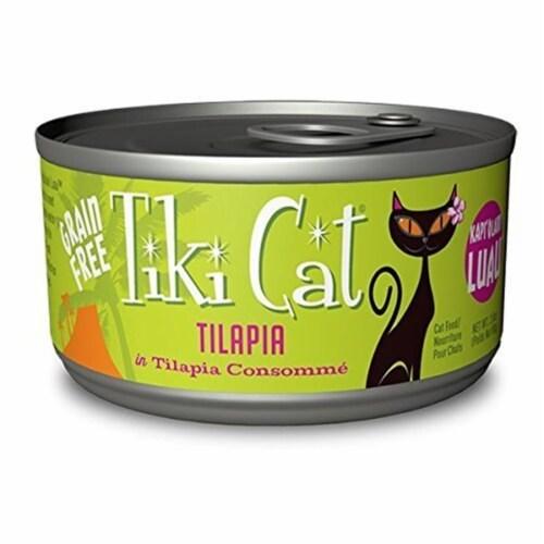 Tiki Cat 25103210 Luau Kapi Tilapia Cat Food - 2.8 oz Perspective: front