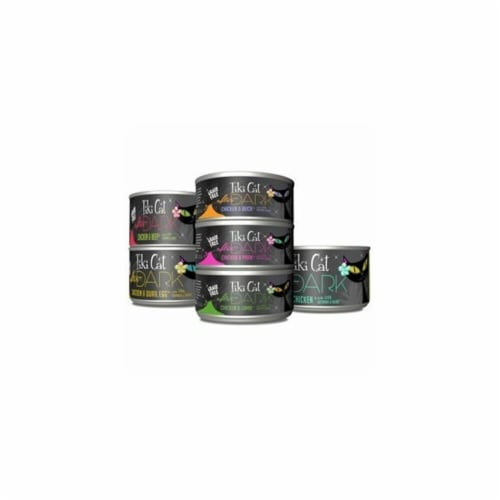 Tiki Cat 759146 2.8 oz After Dark Variety Pack Canned Cat Food, Case of 12 Perspective: front