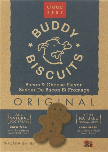 Buddy Biscuits Bacon & Cheese Dog Treats Perspective: front