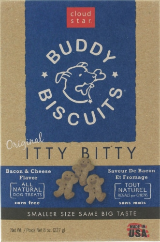 Buddy Biscuits Itty Bitty Bacon & Cheese Treats Perspective: front