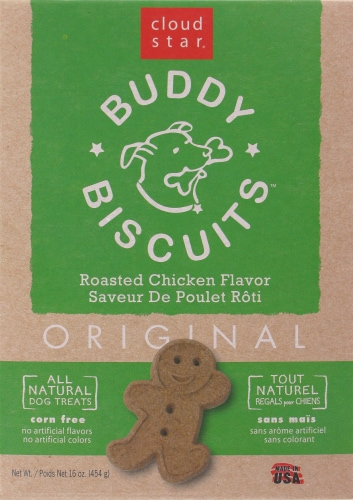 Buddy Biscuits Roasted Chicken Dog Treats Perspective: front