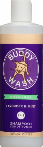 Cloud Star Buddy Wash Original Lavender & Mint Dog Shampoo + Conditioner Perspective: front