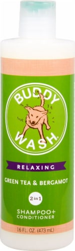 Cloud Star Buddy Wash Relaxing Green Tea & Bergamot Dog Shampoo & Conditioner Perspective: front