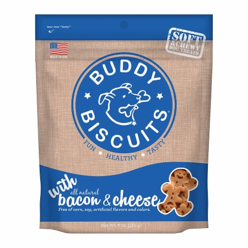 Buddy Biscuits Soft Bacon & Cheese Perspective: front