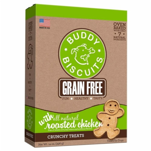 Buddy Biscuits Grain Free Roasted Chicken Treats Perspective: front