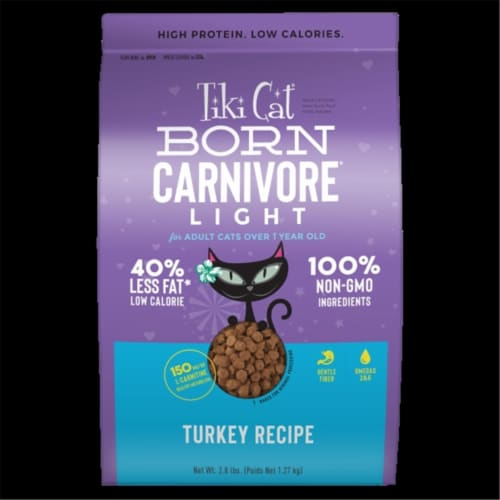 Tiki Pet 25147025 2.8 lbs Gluten Free Carnivore Light Turkey Food for Cat Perspective: front