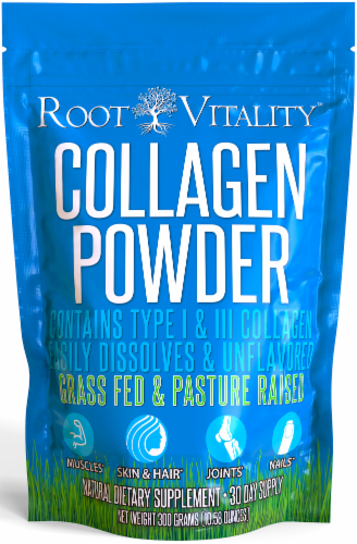 Root Vitality Collagen Powder - Collagen Supplements for Skin, Hair, Nails & Joints- 2 Pack Perspective: front