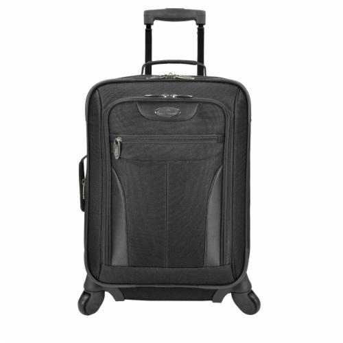 U.S. Traveler Softsided Spinner Luggage - Black Perspective: front