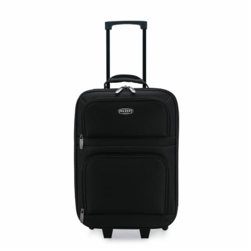 Elite Softside Kid's Carry-On Rolling Luggage - Black Perspective: front