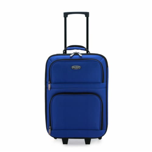 Traveler's Choice Elite Softside Kid's Carry-On Rolling Luggage - Navy Perspective: front
