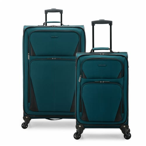 Traveler's Choice Esther Expandable Spinner Luggage Set - Teal Perspective: front