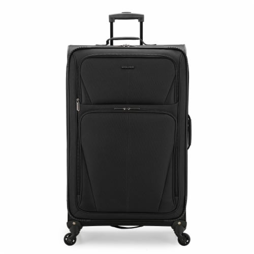 U.S. Traveler Esther Expandable Spinner Luggage - Black Perspective: front