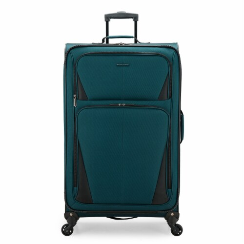 U.S. Traveler Esther Expandable Spinner Luggage - Teal Perspective: front