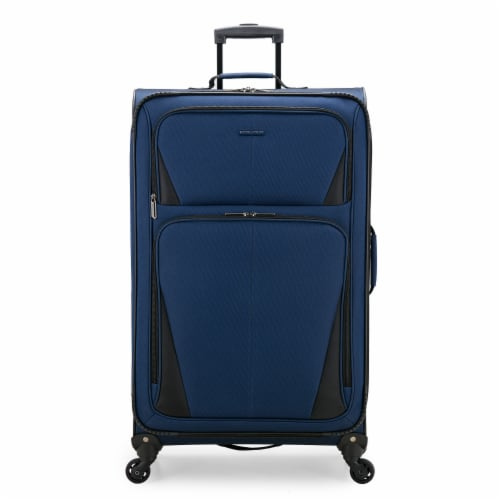U.S. Traveler Esther Expandable Spinner Luggage - Navy Perspective: front