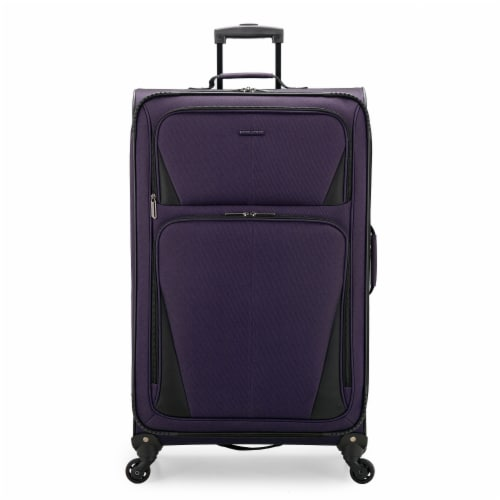 U.S. Traveler Esther Expandable Spinner Luggage - Purple Perspective: front