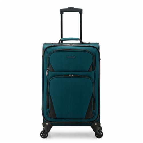U.S. Traveler Esther Carry-On Expandable Spinner Luggage - Teal Perspective: front