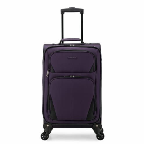 U.S. Traveler Esther Carry-On Expandable Spinner Luggage - Purple Perspective: front