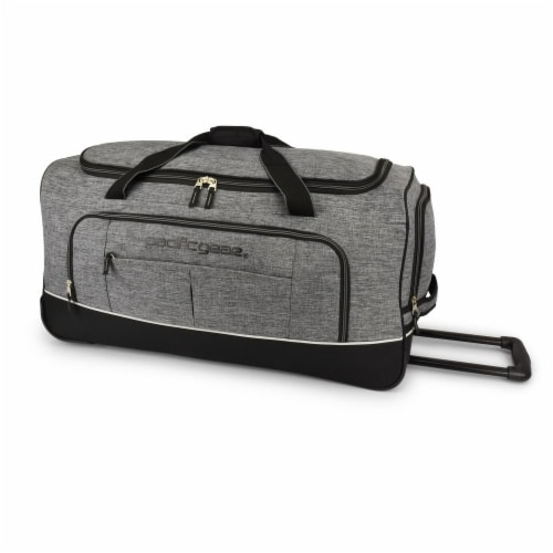 Pacific Gear Keystone Rolling Duffel Bag - Gray Perspective: front
