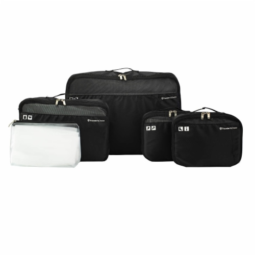Traveler's Choice Packing Cube Luggage Set - Black Perspective: front