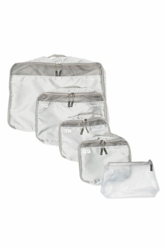 Traveler's Choice Packing Cube Luggage Set - Gray Perspective: front