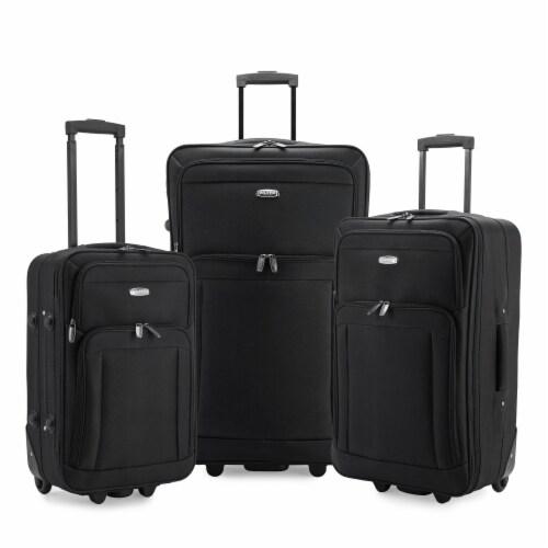 Traveler's Choice Elite Luggage Gondola Softside Rolling Luggage - Black Perspective: front