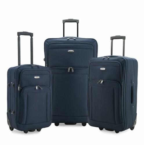 Traveler's Choice Elite Luggage Gondola Softside Rolling Luggage - Navy Perspective: front