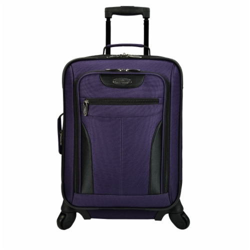 Traveler's Choice® Upright Spinner Luggage Bag - Purple Perspective: front