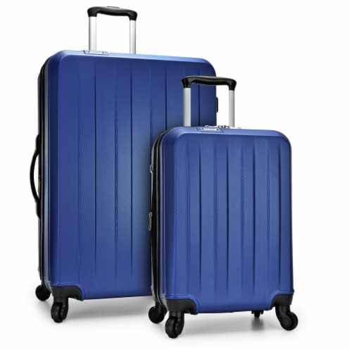 Traveler's Choice Elite Luggage Havana Spinner Luggage Set with USB Port - Navy Perspective: front