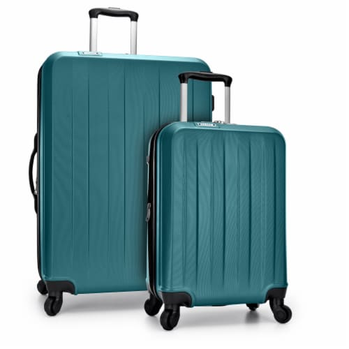 Traveler's Choice Elite Luggage Havana Spinner Luggage Set with USB Port - Teal Perspective: front