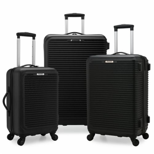 Elite Luggage Sunshine 3-Pc Hardside Spinner Luggage Set - Black Perspective: front