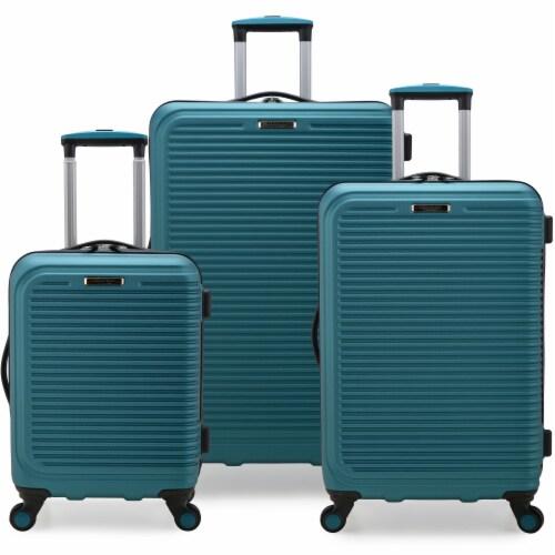 Elite Sunshine 3-Pc Hardside Spinner Luggage Set - Teal Perspective: front
