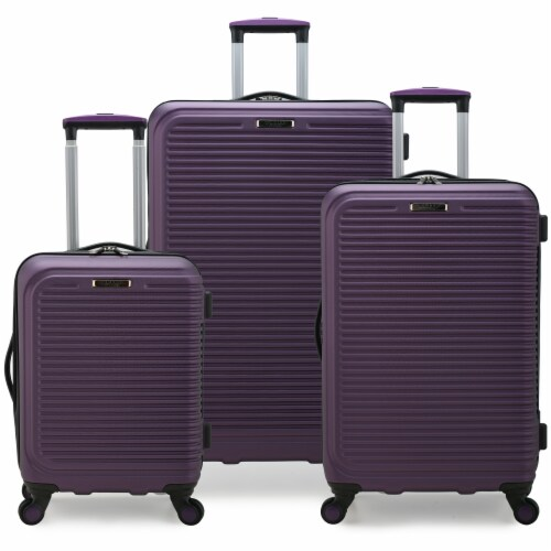 Elite Luggage Sunshine 3-Pc Hardside Spinner Luggage Set - Purple Perspective: front