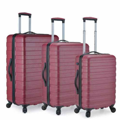 U.S. Traveler Bondi 3-Piece Spinner Luggage with Smart USB Port - Brick Perspective: front
