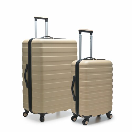 U.S. Traveler Cypress 2-Piece Spinner Luggage Set - Sand Perspective: front