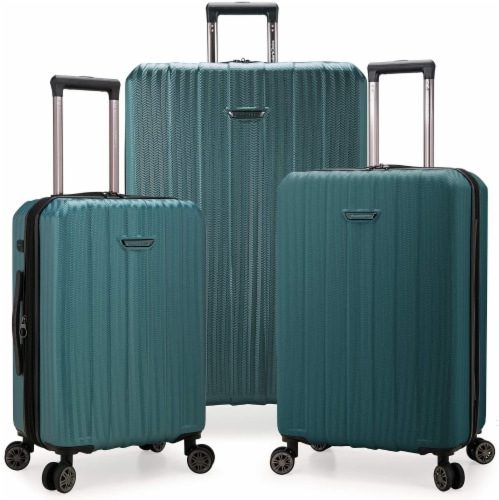 Traveler's Choice Dana Point Expandable Hard-Shell Luggage Set with USB Port - Spruce Perspective: front