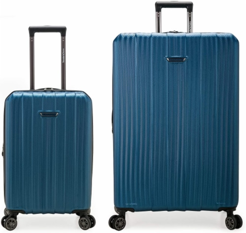 Traveler's Choice Dana Point Expandable Hard-Shell Luggage Set with USB Port - Navy Perspective: front