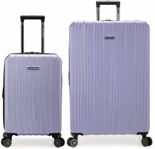 Traveler's Choice Dana Point Expandable Hard-Shell Luggage Set with USB Port - Light Lavender Perspective: front