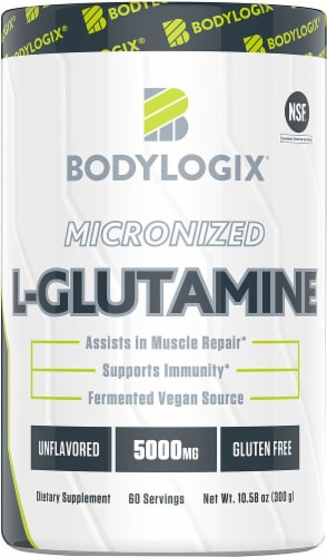 Bodylogix  Micronized L-Glutamine   Unflavored Perspective: front
