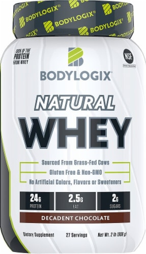 Bodylogix  Natural Whey   Decadent Chocolate Perspective: front
