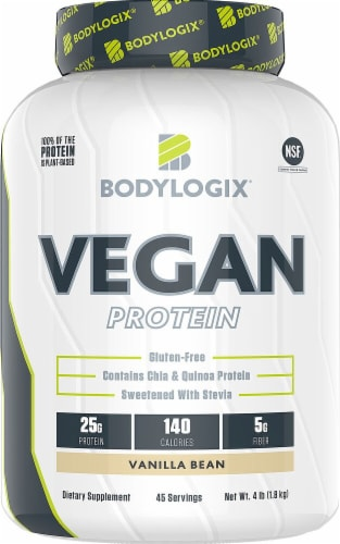 Bodylogix  Vegan Protein   Vanilla Bean Perspective: front