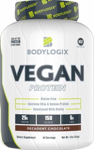 Bodylogix  Vegan Protein   Decadent Chocolate Perspective: front