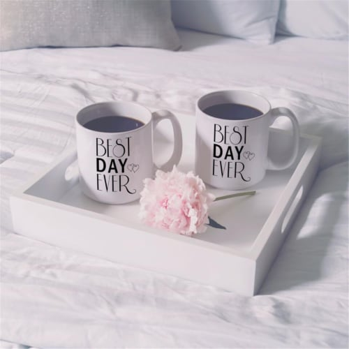 Cathys Concepts BDE-3900 Personalized Best Day Ever 20 oz Large Coffee Mugs - Set of 2 Perspective: front