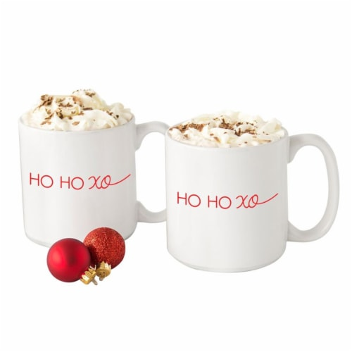 Cathys Concepts H18-3900HO 20 in. HO HO XO Large Coffee Mugs Perspective: front