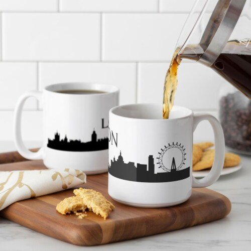 Cathys Concepts LON-3900ST 20 oz London Cityscape Coffee Mugs Perspective: front