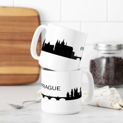 Cathys Concepts PGU-3900ST 20 oz Prague Cityscape Coffee Mugs Perspective: front