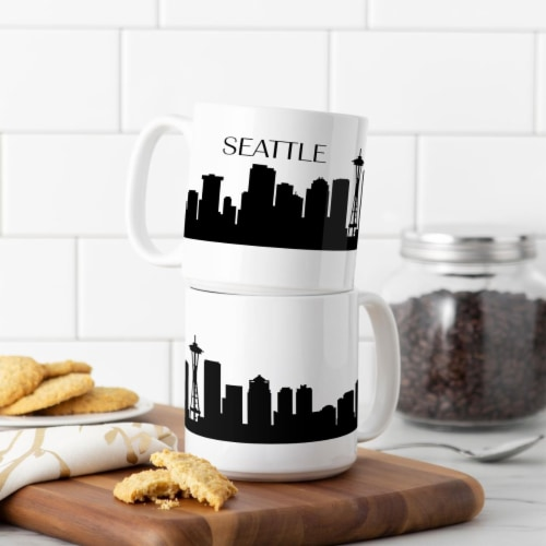 Cathys Concepts STL-3900ST 20 oz Seattle Cityscape Coffee Mugs Perspective: front