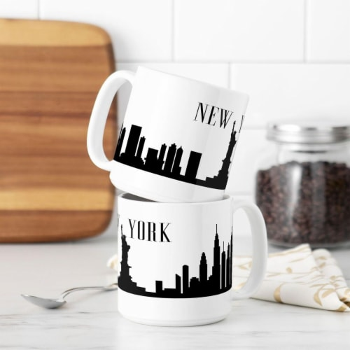 Cathys Concepts NYC-3900ST 20 oz New York Cityscape Coffee Mugs Perspective: front