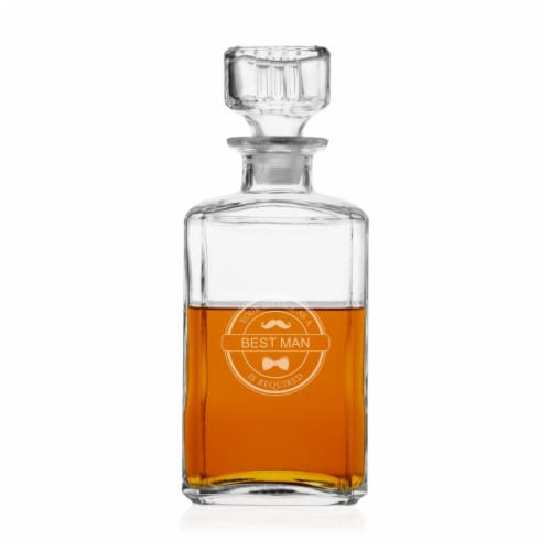 Cathys Concepts BM-BE-1193 Mustache Best Man Decanter - 9 x 4 x 4 in. Perspective: front