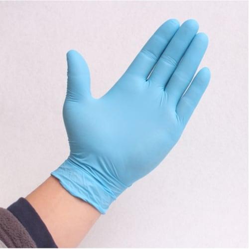 Tirol Nitrile Disposable Gloves Medium Blue Powder Free 100 pk - Case Of: 1; Perspective: front