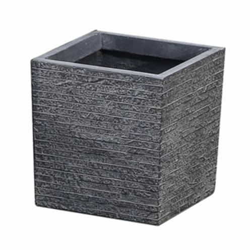 Luxen Home Square Planter with Stone - Small Perspective: front